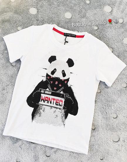 T-shirt Panda avec petit brillant