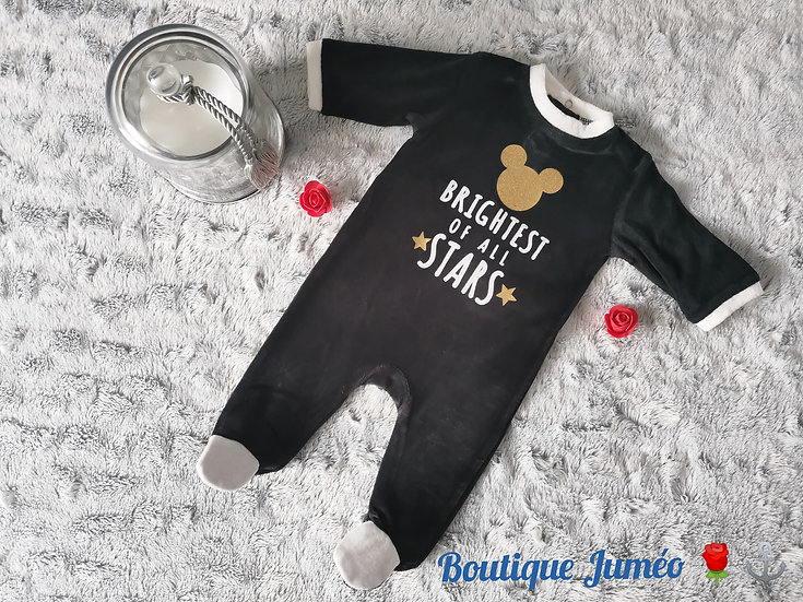 "Pyjama Mickey velours ""La plus brillante de toute les étoiles"""