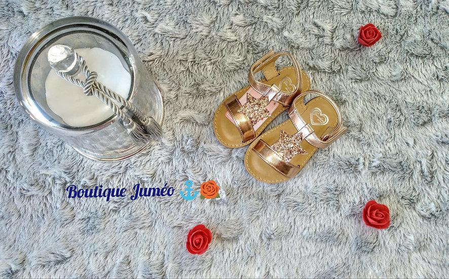 Sandales à motif étoile pailleté
