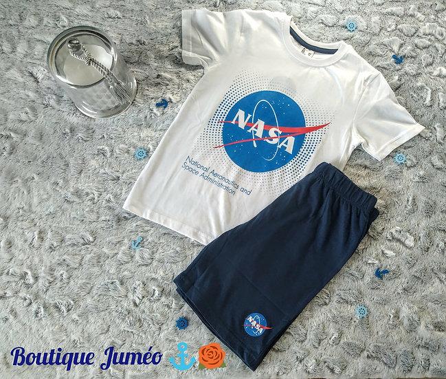 Ensemble pyjama été NASA blanc 9 ans