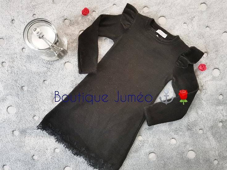 Robe pull dentelle noir