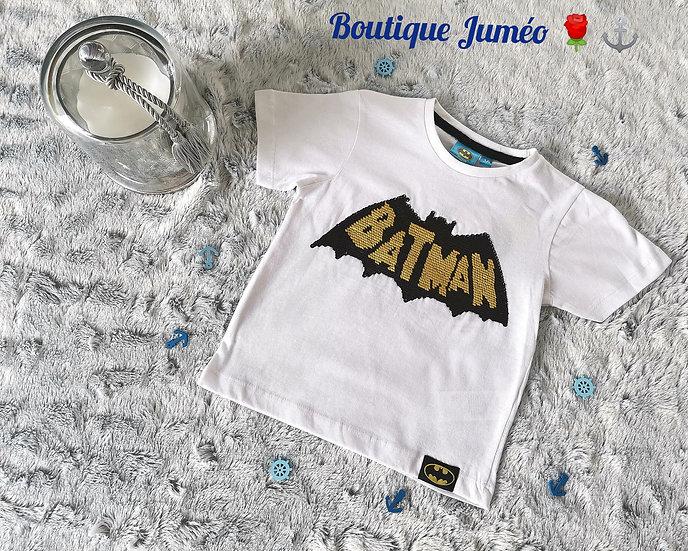 T-shirt Batman sequins