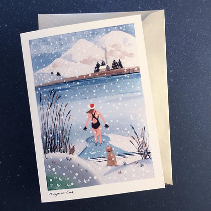 'Hangover Cure' wild swimming Christmas card