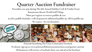 Have fun winning donated items & services for just quarters!