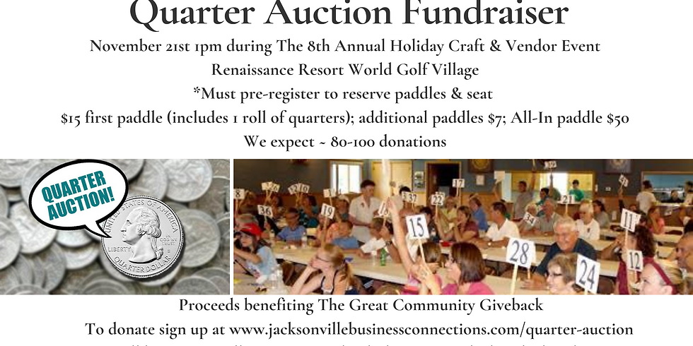 Quarter Auction Fundraiser (In-Person or Virtual Option)
