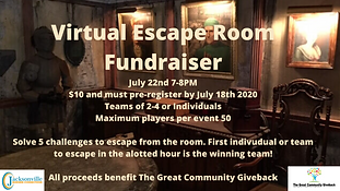Have fun escaping the virtual virtual room you and/or your team is trapped in! Solve the 5 challenges first in the allotted hour to be the winning team!
