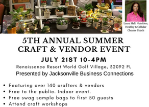 Jacksonville Business Connections is hosting the 5th Annual Summer Craft & Vendor Event!