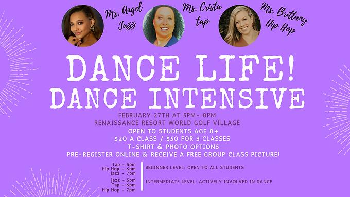 Dance Life! Dance Intensive Workshops 8+ to Teen