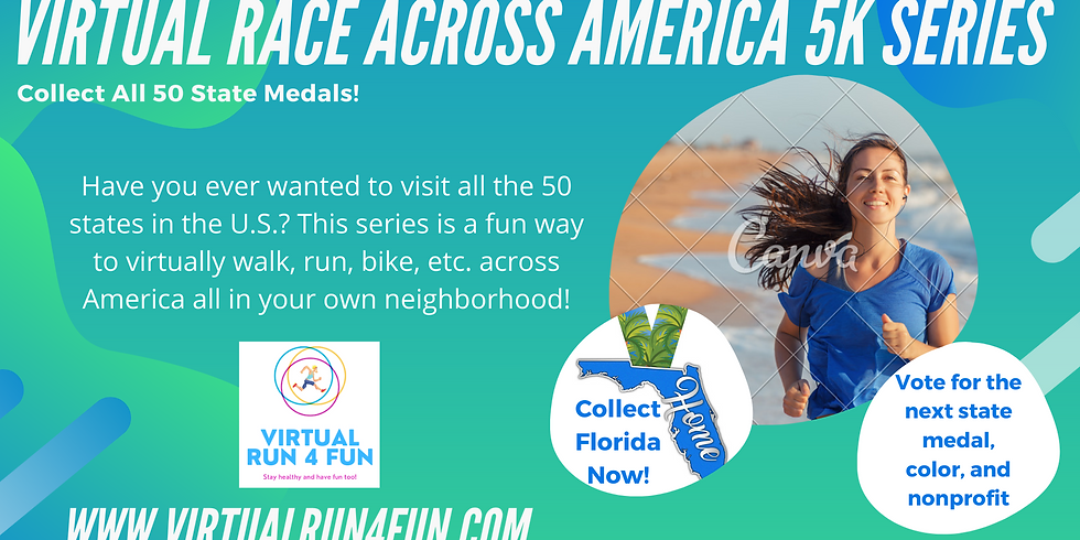 Virtual Florida State 5k Race - Race Across America 5k Series