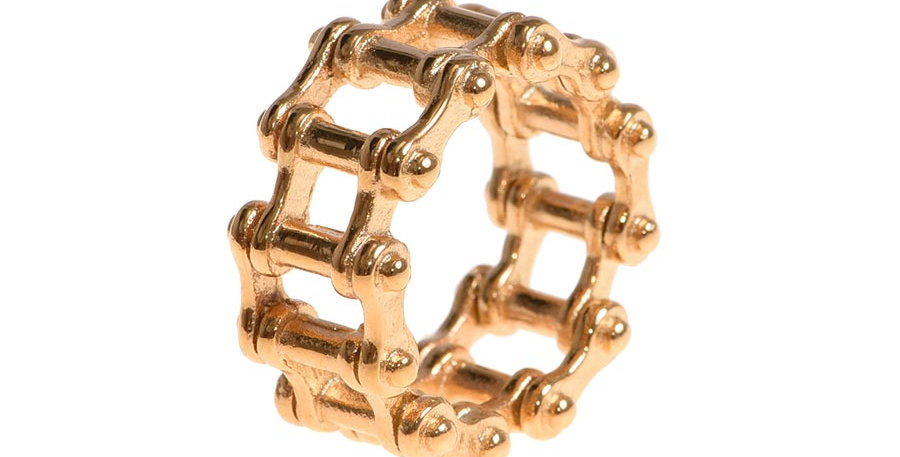 Motorcycle chain gold