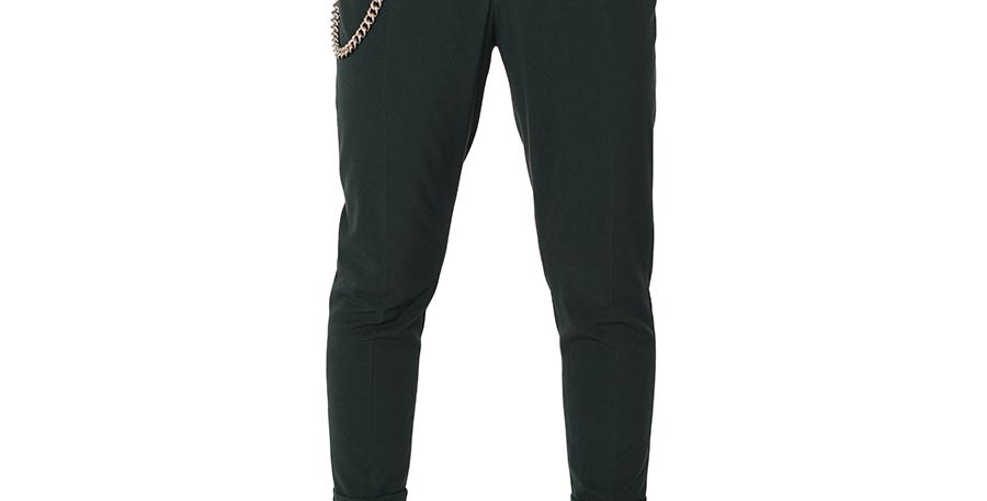 Pantalon carrot fit verde