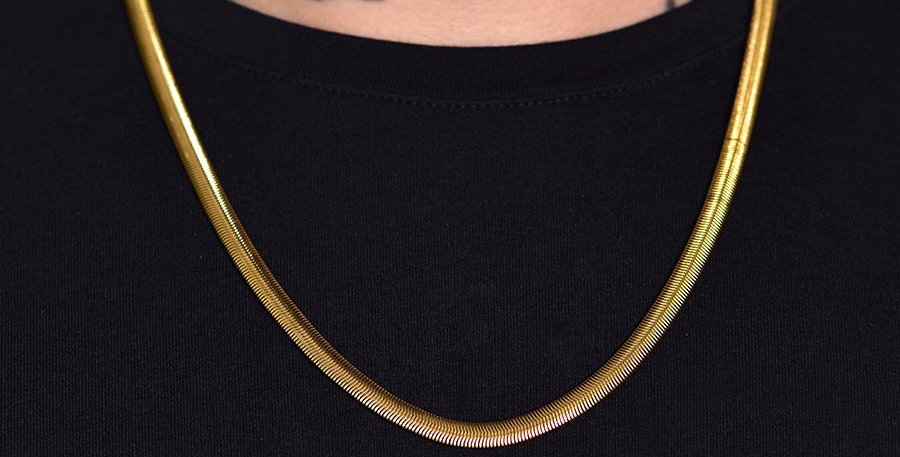 Collar snake dorado 60cm x 5mm