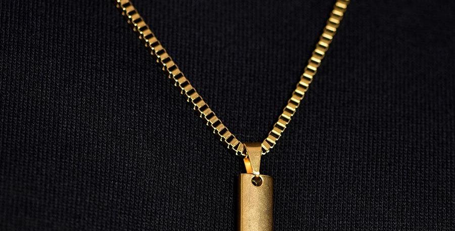 Collar pole dorado 60cm
