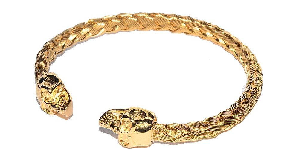 Skull bangle gold