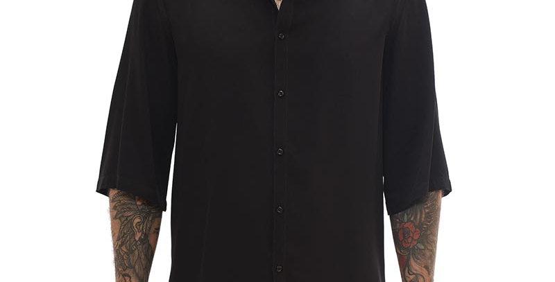 Bluson semi-oversized en negro boxy fit