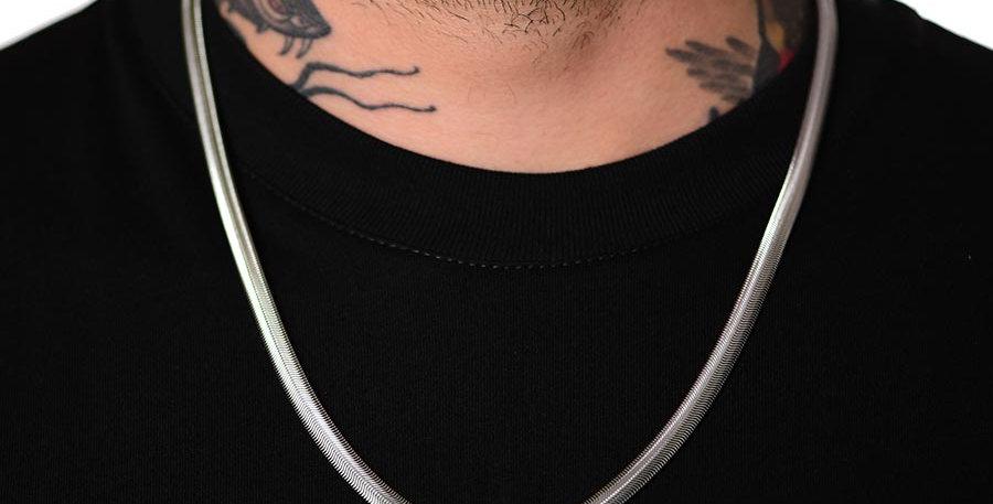 Collar snake plateado 60cm