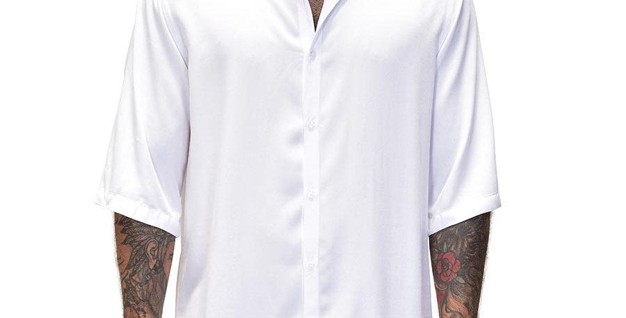 Bluson semi-oversized en blanco boxy fit