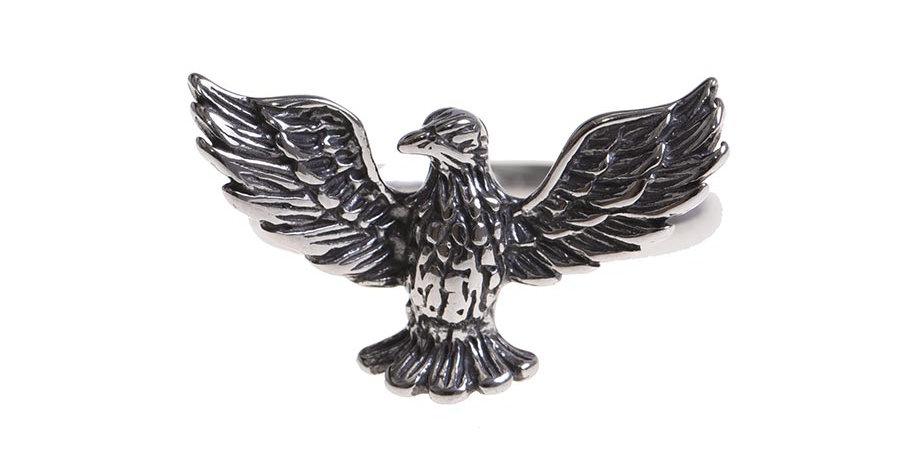 Anillo eagle plateado