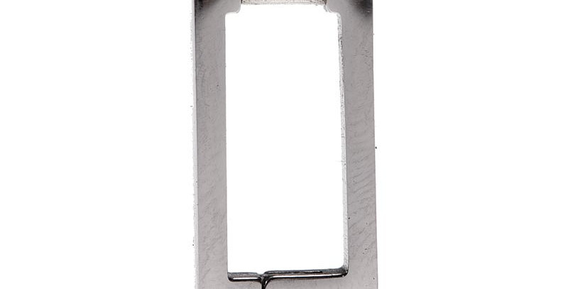 Arete rectangular plateado
