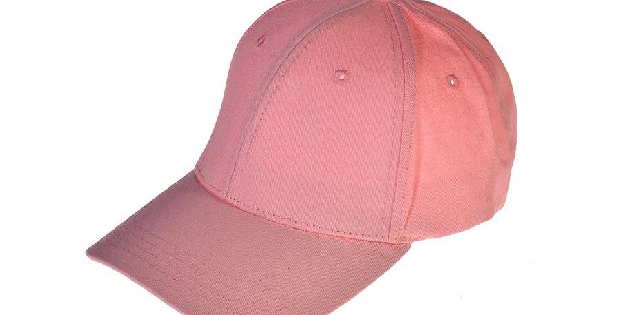 Gorra beisbolera rosa basica