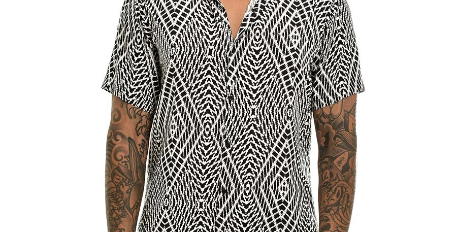 Camisa regular fit  kaleidoscope b&n