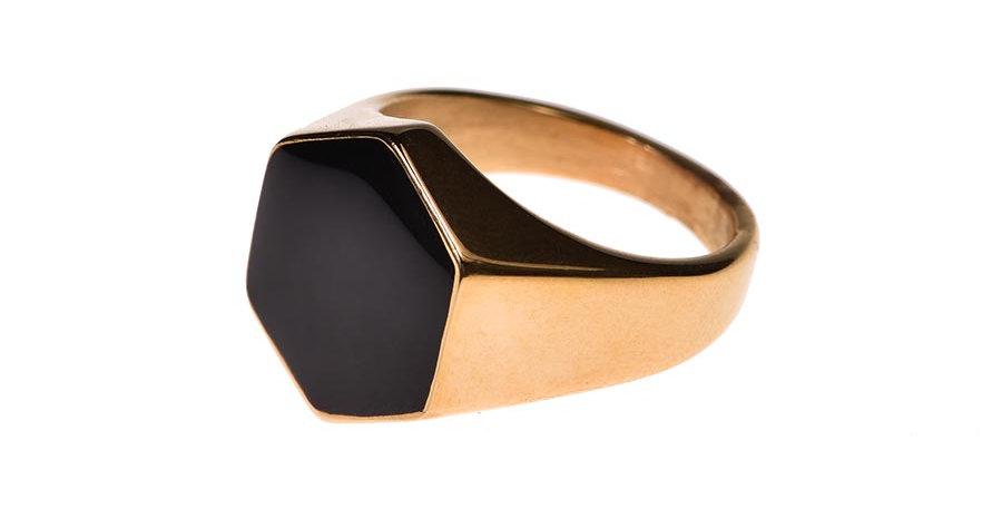 Hexagram ring