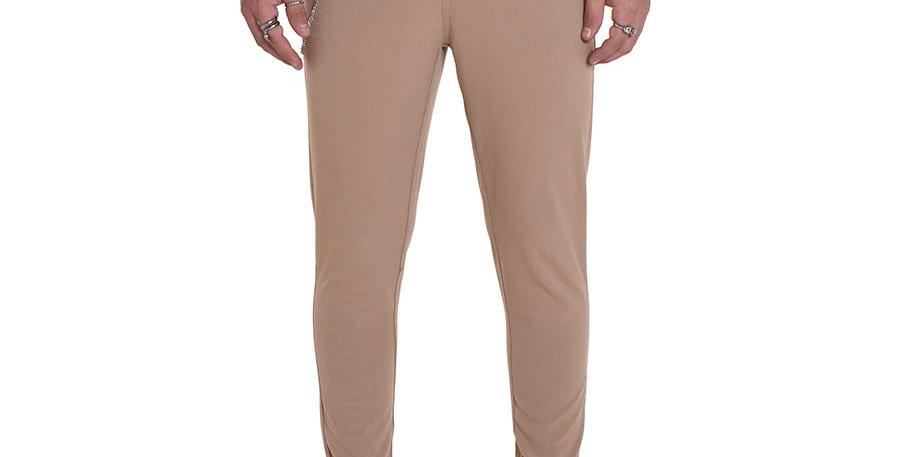 Pantalon carrot fit beige