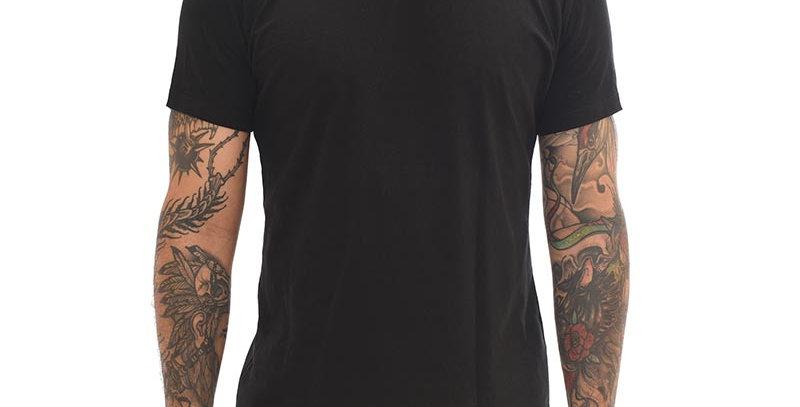 Camiseta super slim básica negra