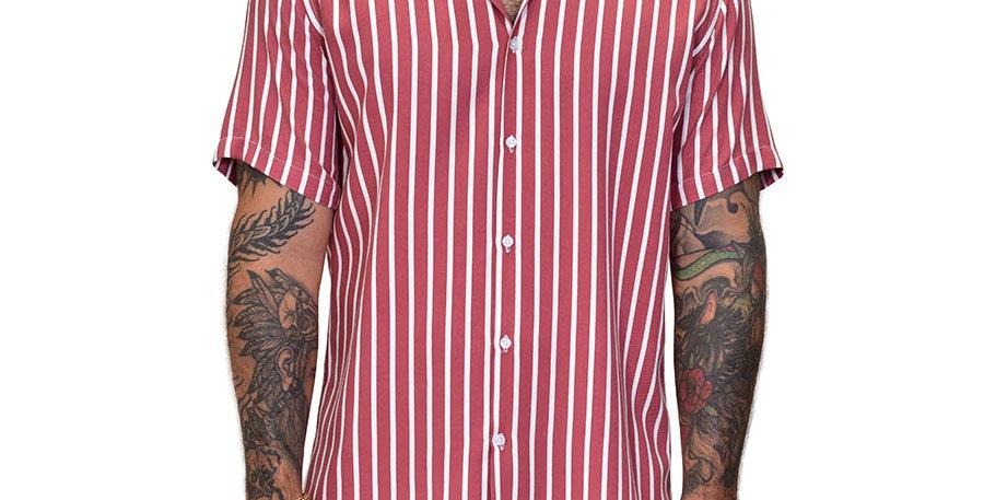 Camisa regular fit rayas bowling