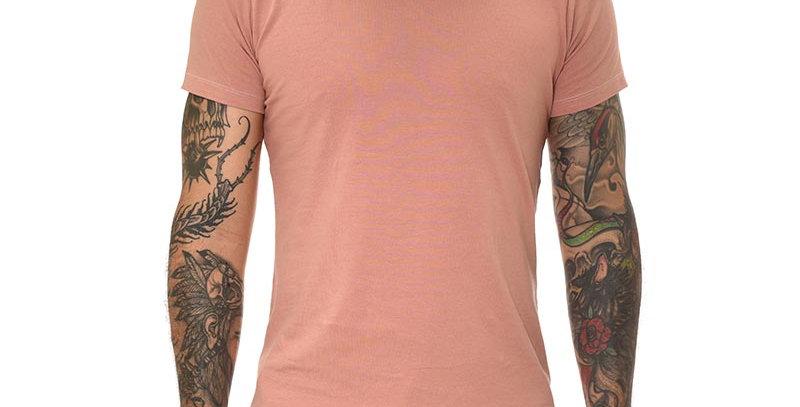 Camiseta super slim básica rosada