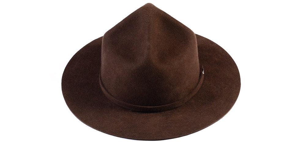 Sombrero policia canadiense marron