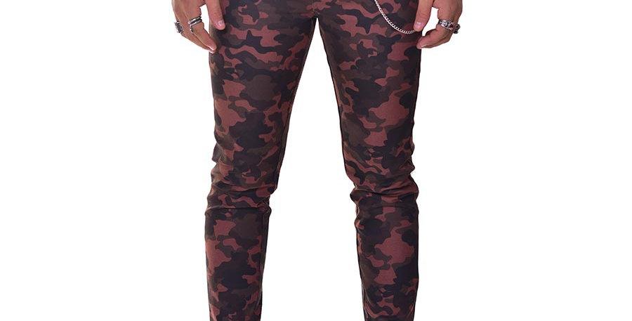 Pantalon skinny camo en dril stretch