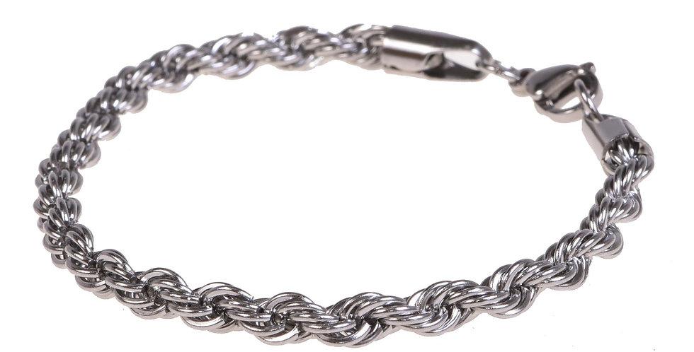 Pulsera lazo franciscano silver