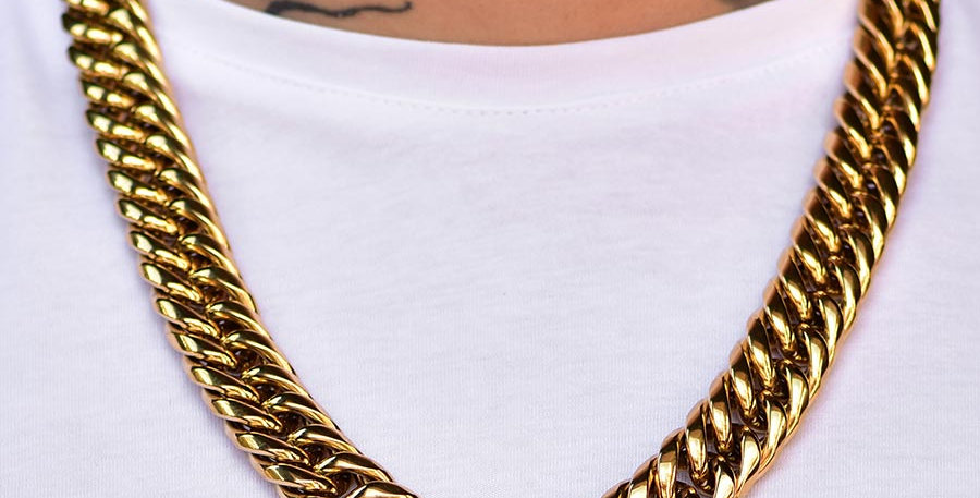 Cadena 19mm dorada