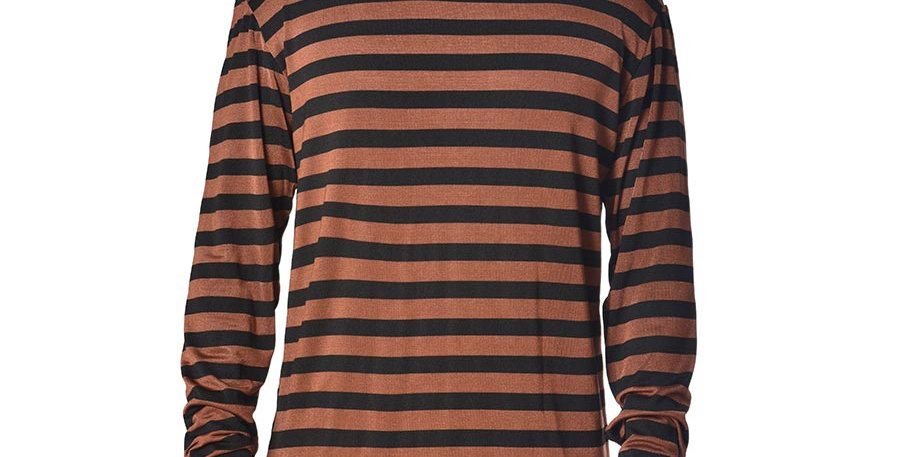 Camiseta terracota rayas long sleeve