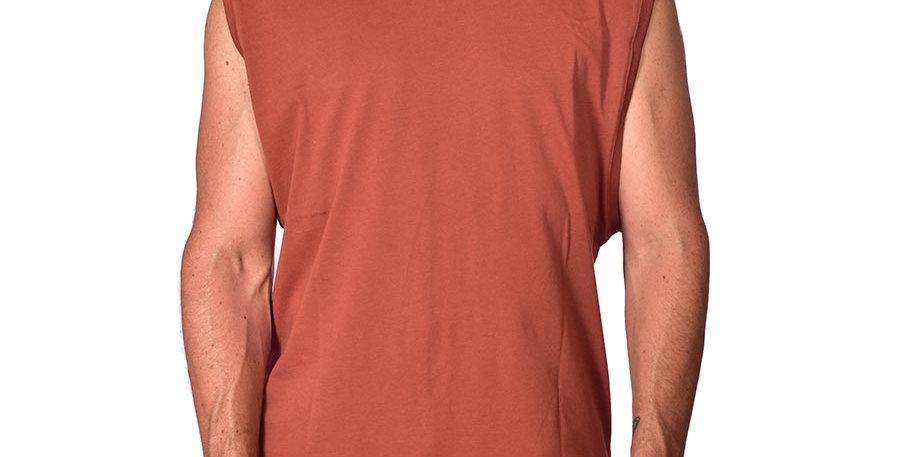 Camiseta sin mangas terracota