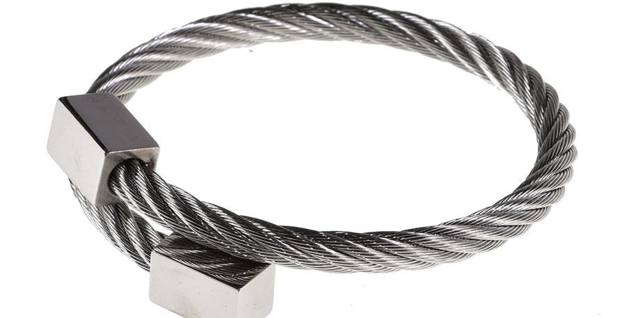 Twisted cube bracelet silver