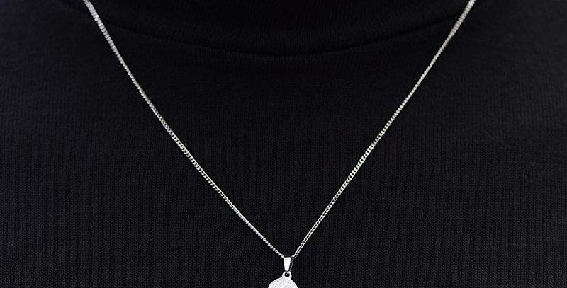 Collar plateado benedict 50cm