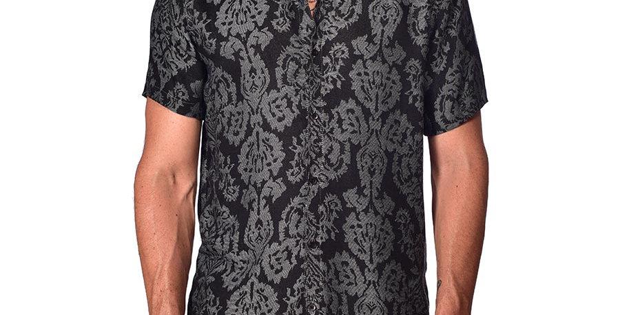 Camisa regular fit arabescos