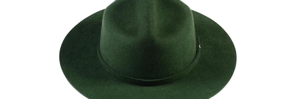 Sombrero policia canadiense verde