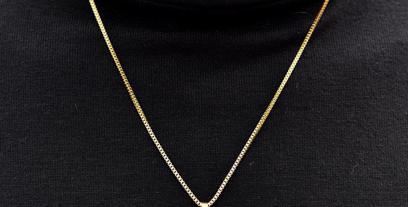 Collar chapa militar dorado 60cm