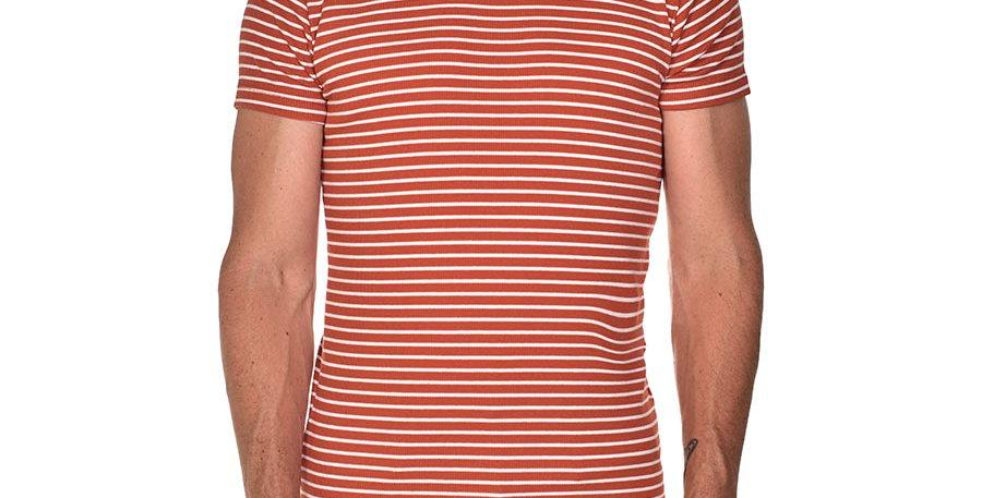 Camiseta striped terracota slim fit