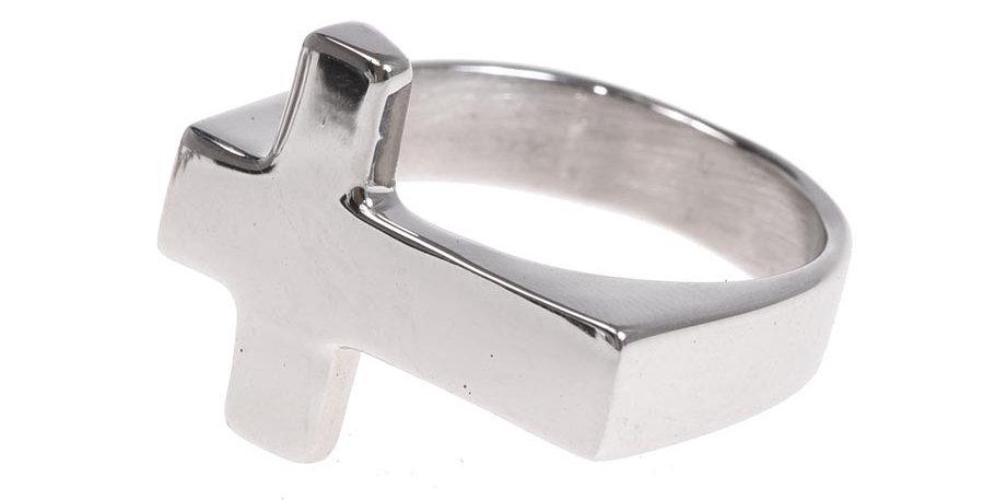 Anillo cruz silver