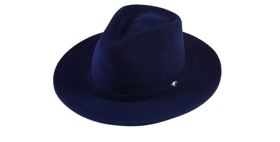 Sombrero western azul turqui