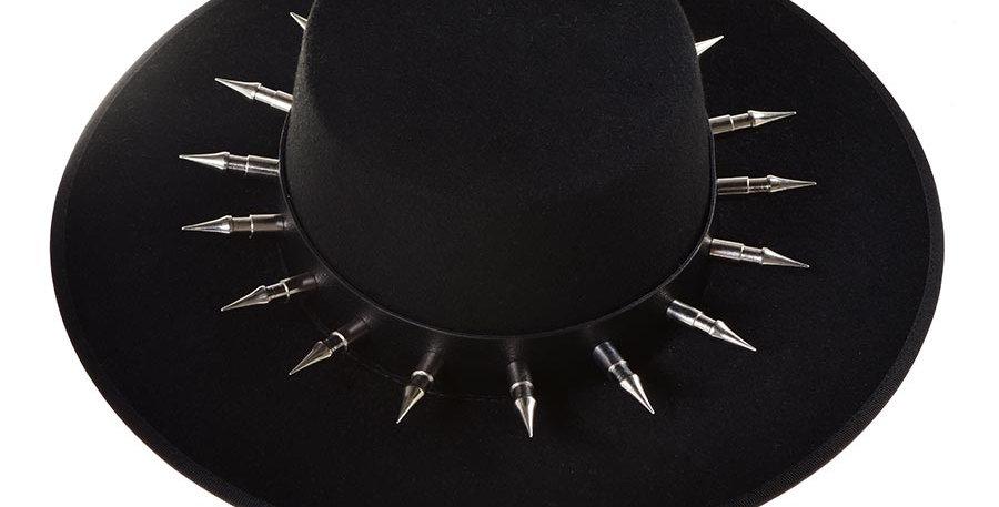 Sombrero cordobes negro tache perro
