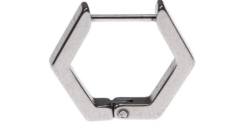 Arete hexagonal plateado