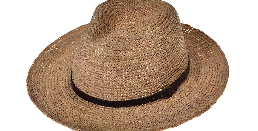 Sombrero playero western yute
