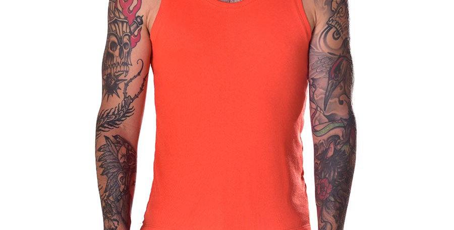 Tank top orange slim fit