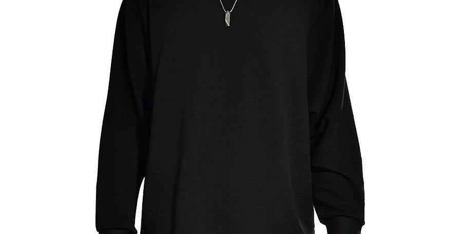 Buso negro long sleeve extragrande