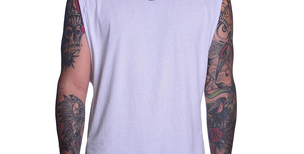 Camiseta sin mangas en blanco